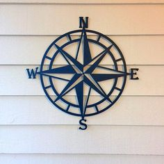 Nautical Compass Rose Metal Wall Art- Various Sizes - Modern Compass Wall Decor, Nautical Compass, Nautical Home, Nautical Wall Decor, Nautical Decor Outdoor, Nautical Bedding, Outdoor Metal Wall Art, Metal Tree Wall Art, Metal Wall Decor