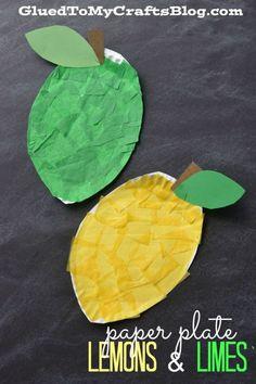 Lemon Crafts, Fruit Crafts, Food Crafts, Paper Plate Crafts, Glue Crafts, Paper Plates, Daycare Crafts, Classroom Crafts, Toddler Art