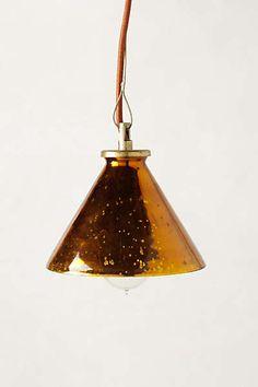Anthropologie - Burnished Pendant Lamp. 98. 40 watt
