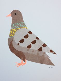 My clever friend - Pui Lee illustrated this gorgeous Pigeon.