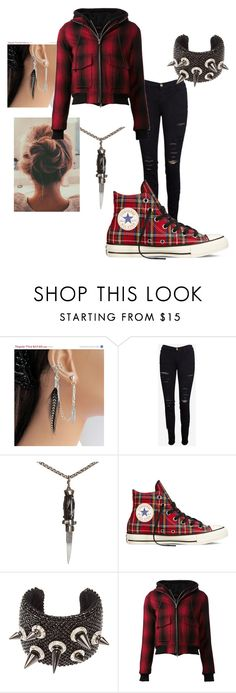"""""""The Silent Killer // #1"""" by peytonhunt ❤ liked on Polyvore featuring beauty, Monday, Frame Denim, Katherine Wallach, Converse, Michael Schmidt and R13"""