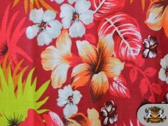 1 X Polycotton Printed HAWAIIAN RED Fabric By the Yard FABRIC EMPIRE http://www.amazon.com/dp/B006HLYXXG/ref=cm_sw_r_pi_dp_p2l6wb0S6RDEE