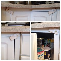 How to childproof a lazy susan cabinet