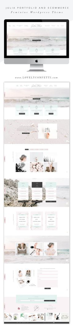 Julia a feminine WordPress theme for lady entrepreneurs - Full Width by Lovely Confetti