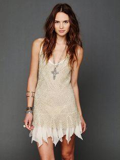 98543 New $258 Intimately Free People Golden Enchantment Slip Racer Back Dress S #FreePeople #GoldenEnchantmentSlipDress #Casual