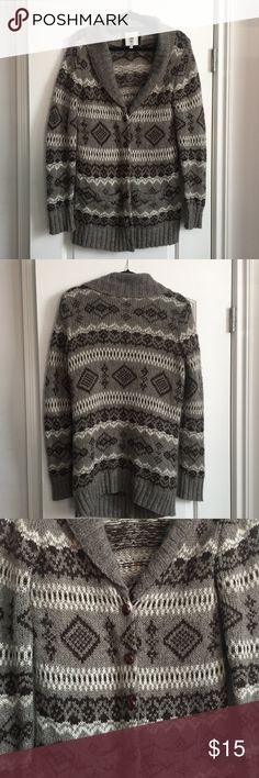 I LOVE H81 - brown tribal sweater Size Large Trendy chunky sweater. Forever 21 Sweaters Cardigans