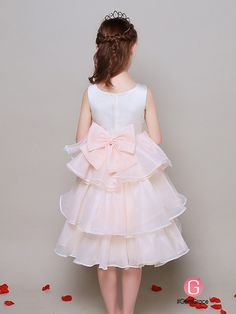 A Line Short Chiffon Layers Lace Beaded Pageant Dress For Little Girls   EFL34 - GemGrace.com 7f433a87de92