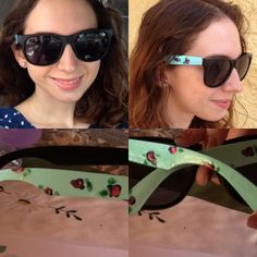 Click the picture to watch a simple #DIY video on how to make your own floral sunglasses! Great for Spring and Summer.