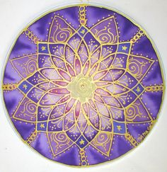Crown chakra mandala spritual giftreiki art by HeavenOnEarthSilks