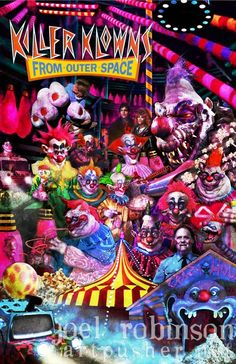 Killer Klowns From Outer Space Poster Artwork from Horrorhound Magazine only $15!!!