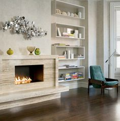 Modern Stone Fireplaces modern Şömineler | stone work, hearths and mantle