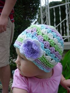Little girl hat pattern - FREE (scroll at Ravelry page for information about how to crochet this hat for adults)