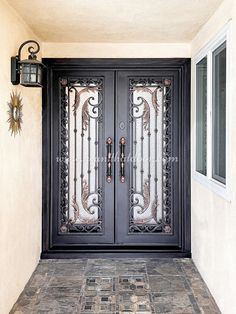 😇😇😇 Did you know our iron door designs are some of the most artful and beautiful you will find anywhere? -- ☎️☎️☎️ Call 877-205-9418 for Orders and Inquiries 💰💰💰 Ask us about our EXCEPTIONAL OFFERS 🆓🆓🆓 Take advantage of FREE CONSULTATION and FREE DESIGN ⚠️⚠️⚠️ About this Beautiful IRON DOOR: Athena Double Entry Iron Door with Pull Handles -- #irondoor #iwantthatdoor #wroughtirondoor #universalirondoors #ironfrontdoor #irondoorsnearme #irondoorcompany #cheapirondoor Iron Front Door, Wrought Iron Doors, Pull Handles, Door Design, Free Design, This Is Us, Beautiful, Wrought Iron Gates, Draw Handles