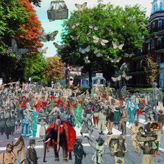 Peter Blake- contemporary piece: A Paradise in Abbey Road. latest collage by the artist who produced the cover for The Beatles album Sergeant Pepper's Lonely Hearts Club Band. Peter Blake Artist, Beatles Albums, Found Art, Lonely Heart, Abbey Road, Art For Art Sake, Silk Screen Printing, Art Challenge, Art World