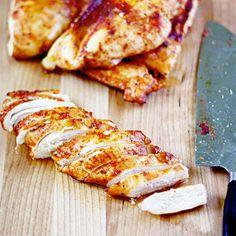 Brown sugar spiced baked chicken breasts