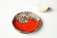 Porte-savon rouge porte-savon en céramique vaisselle en par bemika
