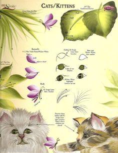 One Stroke Plaid Reusable Teaching Guide RTG's Donna Dewberry Cats Kittens | eBay