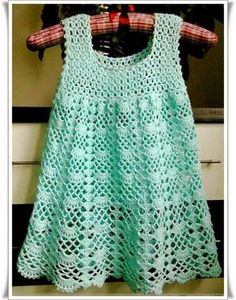 Elişi Örgü Çocuk Elbise Modelleri Örnekleri 8