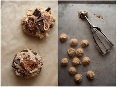 Edible Living: Fig, Oatmeal and Chocolate Cookies + Lingonberry Thumbprints
