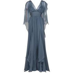 ELIE SAAB Sheer Sleeve Gown