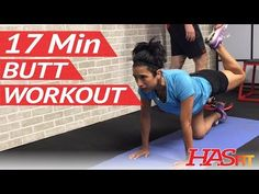 17 Min Butt Workout at Home - Glute / Butt Workouts for Women & Men w/ Dumbbells Weights - YouTube