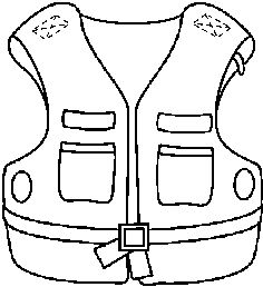 Boat With Lifejacket Coloring Page