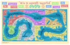 Map of it's a small world - Fun!