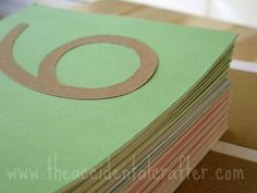 DIY montessori style sandpaper letters/numbers...includes a link for Montessori Font for windows....