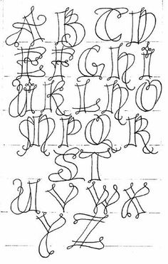 Kersal Exemplar & Basic Strokes Fun Lettering Class Katharina Z. Hand Lettering Alphabet, Doodle Lettering, Creative Lettering, Graffiti Lettering, Lettering Styles, Calligraphy Letters, Modern Calligraphy Alphabet, Graffiti Alphabet, Monogram Alphabet