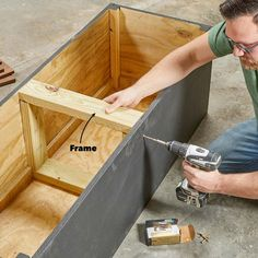 How to Build an Outdoor Storage Bench | Family Handyman | The Family Handyman