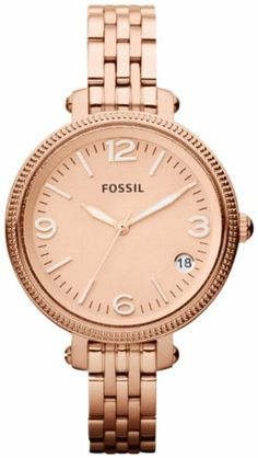 Fossil Heather Mid-Size Stainless Steel Watch Rose Gold