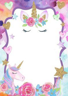 31 Mejores Imágenes De Invitaciones Unicornio Invitaciones