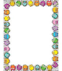 Use this whimsical, delightful Colorful Owls design to promote your classroom theme! So many uses to liven up projects, writing assignments, class new. Borders For Paper, Borders And Frames, Free Cliparts, Owl Theme Classroom, Computer Paper, Writing Assignments, Owl Crafts, Note Paper, Writing Paper