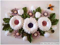 paper quilling - cornflower http://blog.naver.com/101kaikei/140201303181