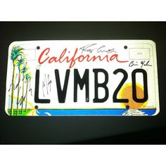 My license plate. LOVE LOVE LOVE it!!