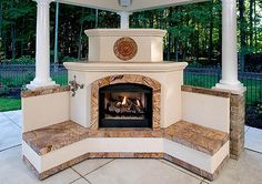 Options for outdoor fireplaces