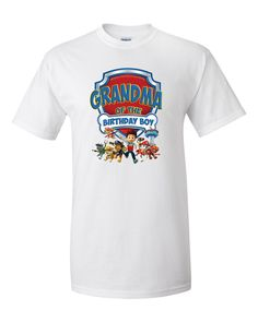 Paw Patrol Birthday Grandma Personalized TShirt by cutetees4me