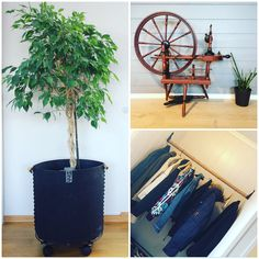 Flowerspot from Oohh/Lübeckliving. Homemade storage for clothes