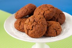 """Gingersnap Cookies (GF, Vegan) """"They're chewy, moist, and have a crackly top, as any gingersnap should"""""""