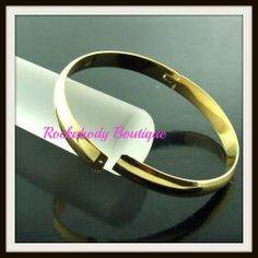 Gold FILLED bangle -Rockabody...