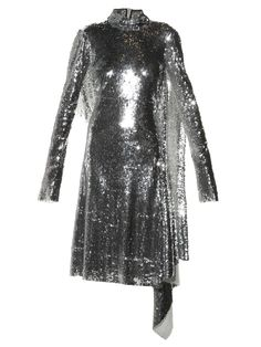 Pin for Later: How to Dress Like a True Vetements Girl From Head to Toe  VETEMENTS Open-back high-neck sequin dress ($12,950)