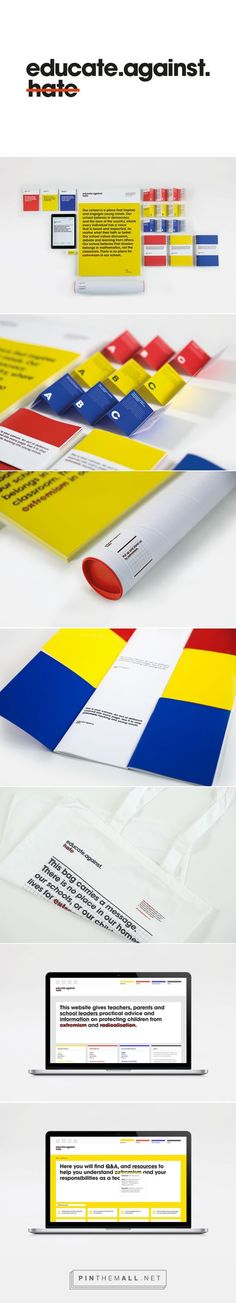 Educate Against Hate branding on Behance - created via https://pinthemall.net