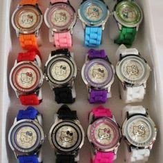 Hello Kitty Watches #hellokitty #kidswatches #colorfulwatches #hellokittywatches