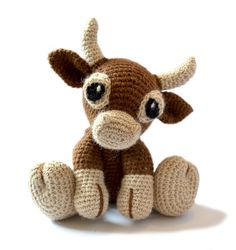 Ravelry: PatchworkMoose's Clementine the Aubrac Cow