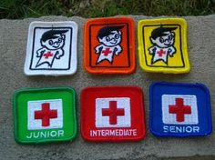 ASSORTMENT OF VINTAGE RED CROSS WATER SAFETY BADGES CRESTS 1970S Vintage Toys 1960s, Vintage Games, Family Memories, Best Memories, Canada Funny, History Classroom, 80s Kids, I Remember When, Red Cross