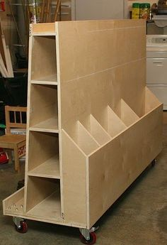 10 Whole Tips AND Tricks: Woodworking Bench woodworking shop watches.Wood Working Toys Furniture Plans woodworking tips homemade.Wood Working For Beginners Style. Lumber Storage Rack, Plywood Storage, Lumber Rack, Diy Garage Storage, Storage Ideas, Garage Organization, Tool Storage, Storage Cart, Organization Ideas