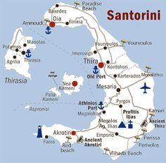 santorini | mappa santorini