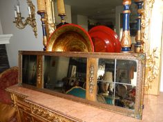 ANTIQUE RECTANGLE MIRROR by UranusAntiques on Etsy