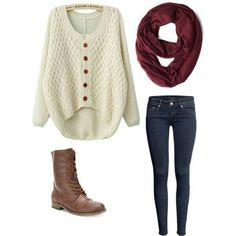 Adorable, fall outfit.