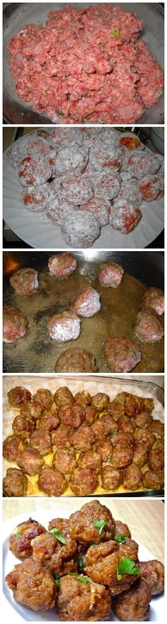 Italian Meatballs Ingredients 1 lb. ground beef one (1.25 lb.) pkg mild italian sausage, casings removed ½ medium yellow onion 2 cloves fresh garlic 6 Tbsp, divided olive oil ½ cup bread crumbs ⅓ c...